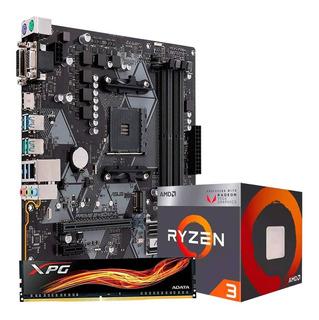 Kit De Actualizacion Gamer Amd Asus B350 Ryzen 3 3200g 8gb