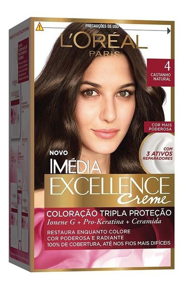 Coloração Imédia Excellence Creme - 4 Castanho Natural