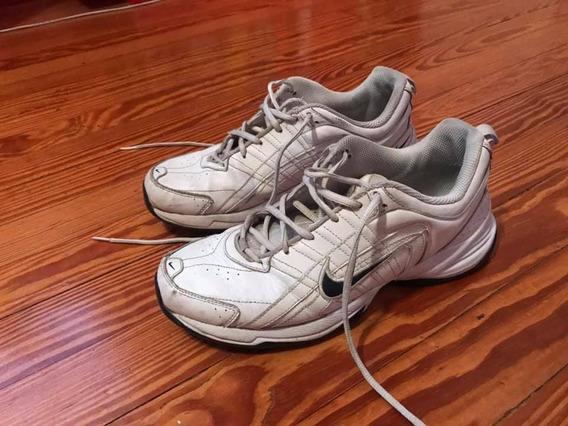 Zapatillas Nike 39.5 Cuero Blancas