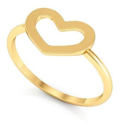 Anel Ouro 18k Coraçãozinho
