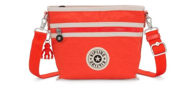 Bolsa Original Pequena Duas Alças Menta Kipling Vermelha