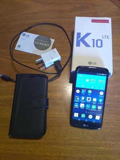 Celular Lg K10 Azul Impecable