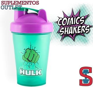 Shaker Superheroes. 400ml. Comic Shaker. Hulk