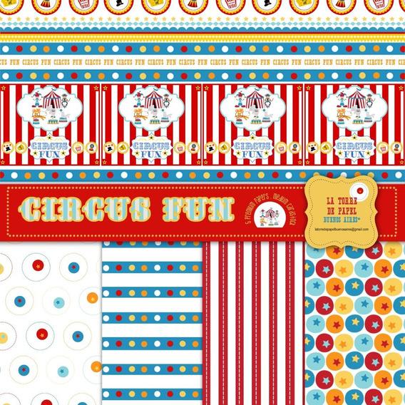 Circus Fun 5 Papeles Para Scrapboking 30x30 Cm