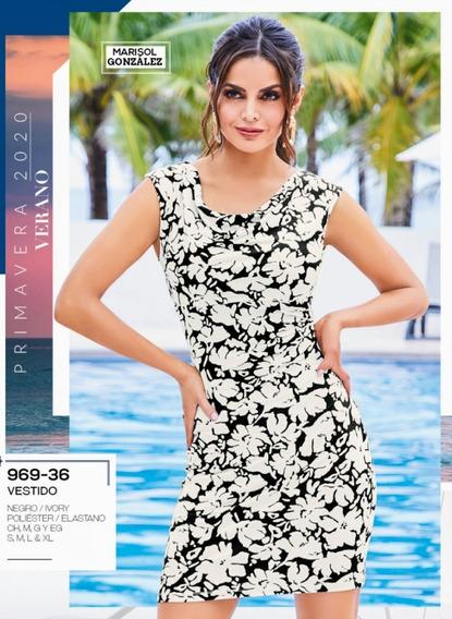 Vestido Negro/ivory 969-36 Cklass Primavera-verano 2020