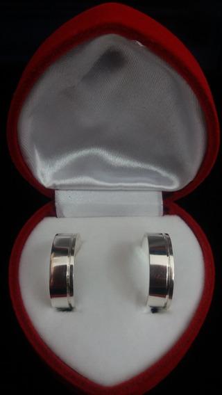 Aliança De Compromisso 7mm Em Prata 925
