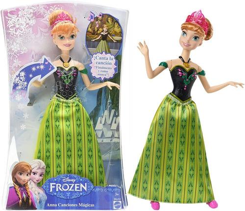 Imagen 1 de 8 de Muñeca Anna Frozen Canta Original Disney Cod Dgj12 Bigshop