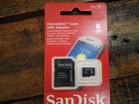 Cartão De Memória 8gb Microsd Card Sandisk 100% Original