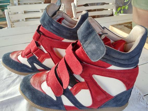 Zapatillas Botitas Con Altura