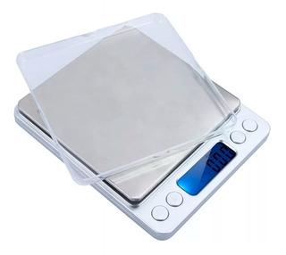 Mini Balanza Digital Precisión 0.1 A 2000 Gr Bandeja Grande