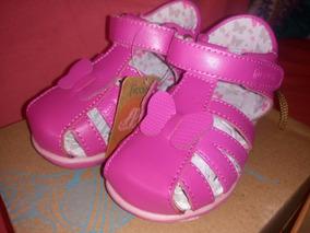 Calzado Sandalia Ficcus Rosada Talla 21 Zapatos Bebe Niña