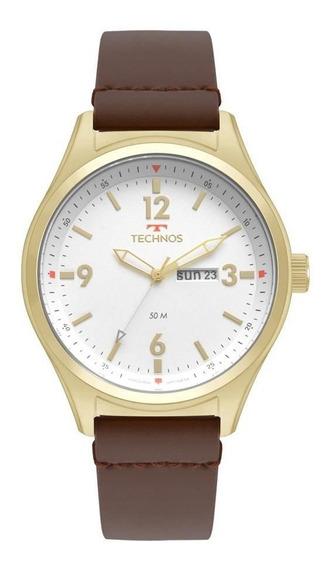 Relógio Technos Masculino Ref: 2105az/2b Militar Dourado