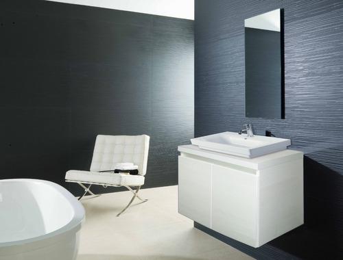 Mueble De Baño Moderno En Melamina  Para Colgar Con Espejo