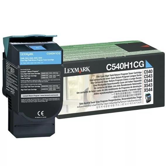 Toner Original Lexmark C540 C544 X543 X544 Cyan C540h1cg