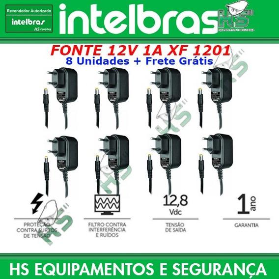 8 Pçs Fonte Alim Câmera Cftv Xf1201 Ef1201 12v 1a Intelbras