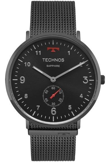 Relógio Technos Unissex Preto Classic Slim 1l45aw/4p