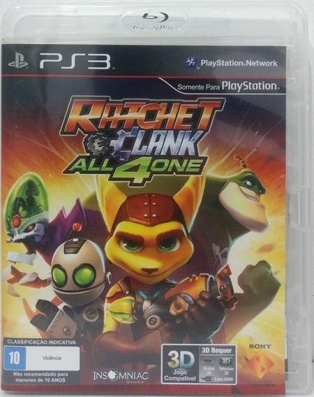 Ratchet & Clank All 4 One - Playstation 3 Ps3 - Mídia Física