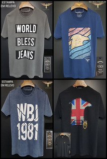 Kit 10 Camisetas T-shirt World Bless Atacado