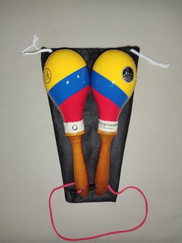 Maraca Salsera 30cm Colombia, Incluye Estuche Tipo Tula