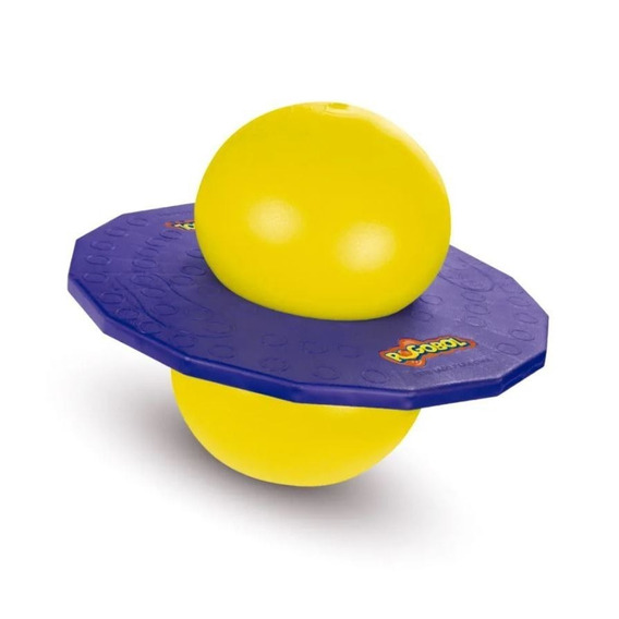 Brinquedo Pogobol Amarelo/roxo Estrela Nf
