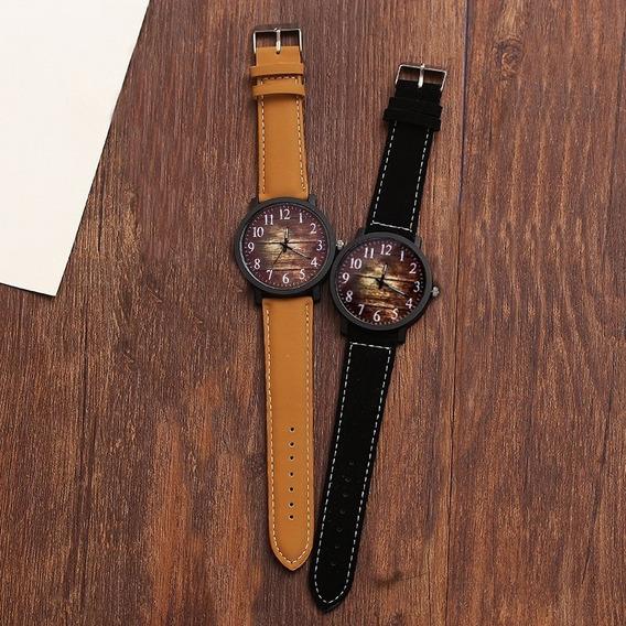 Relógio Feminino Promoção Barato Lindo Couro Original