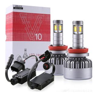 Kit Led Platinum 14,000lm 100w Tecnologia Chip Csc Canbus Faros H7 H8 H9 H11 9005 9006 Tono Blanco Frio Plug & Play