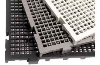 Kit 100 Pçs - Palete Estrado Plástico Preto 2,5 X 25x50 Cm