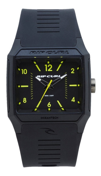 Relógio Rip Curl Rifles Analogue Black Lime A3038 1288 Preto
