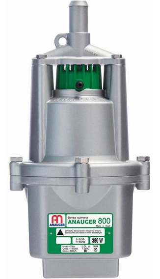 Bomba Dágua Submersa Vibratória Poço 800 5g 220v Anauger
