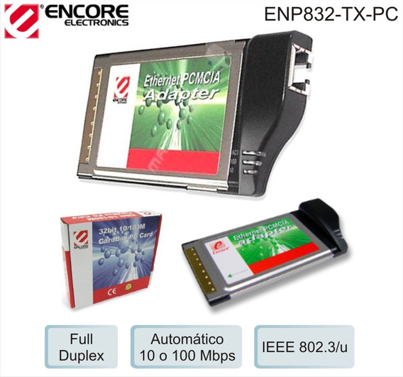 Ethernet Pcmcia Adapter 10/100mbps Encore