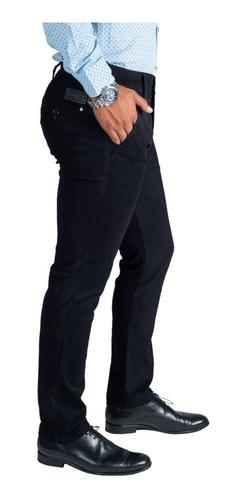 Pantalon Casual De Vestir Skinny Negro Para Hombre Descuento Af2 Jeans