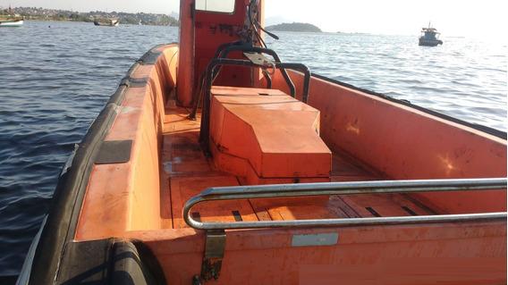 Barco Casco De Fibra Rigid Tug Boat 30