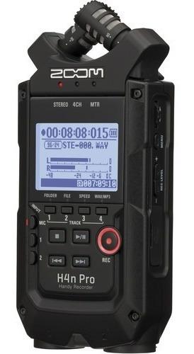 Imagem 1 de 8 de Gravador Áudio Zoom H4n Pro Digital 4 Canais 12x S/juros