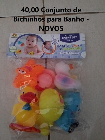 Conjunto De Bichinhos Para Banho - Novos