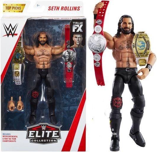 2 X Clásico Tag Team Campeonato-Mattel Cinturón para WWE Lucha Libre Figuras