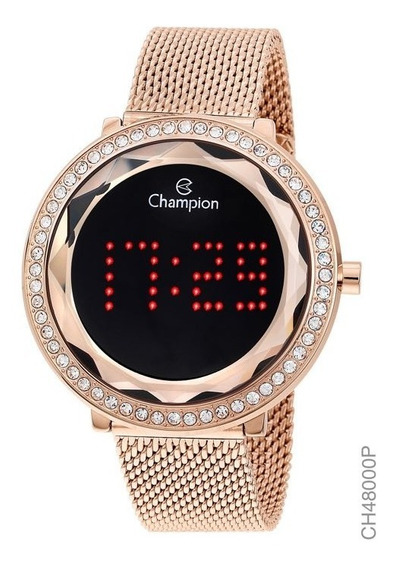 Relógio Digital Feminino Champion Ch48000p Rosê