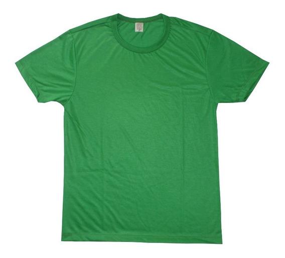 Camiseta Verde Para Sublimação 100% Poliéster Kit Com 40