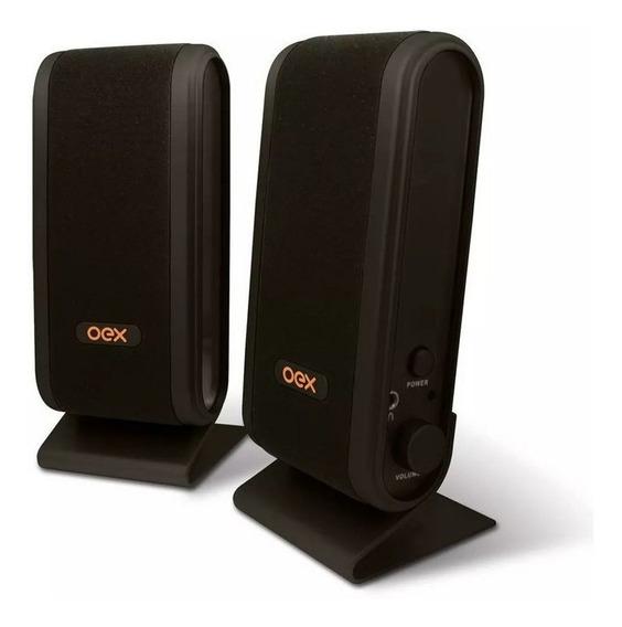 Caixa De Som Para Computador Speaker Slim Oex Sk-101