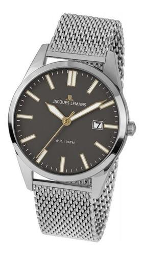 Reloj Jacques Lemans Hombre De Lujo En Acero
