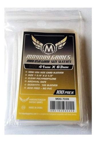 Mayday Mini Usa 100 Card Sleeves - 41mmx63mm