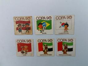 6 Figurinhas Nunca Coladas Copa De 1990 Elma Chips Raro