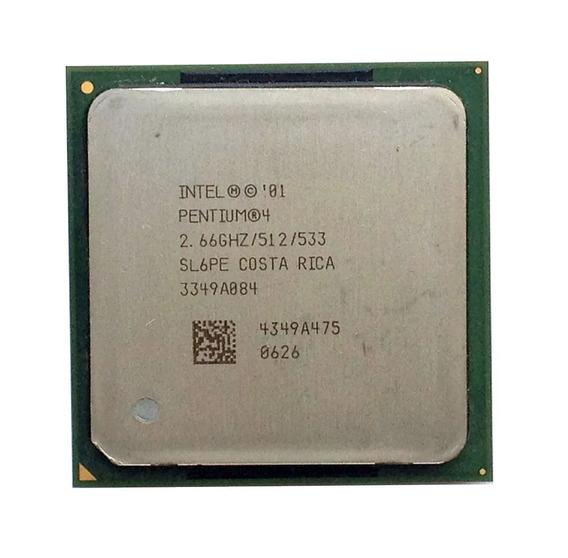 Processador Intel Pentium 4 Sl6pe 2.66 Ghz, 512k Cache #856
