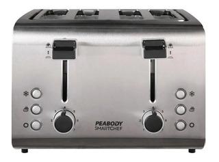 Tostadora Peabody 4 Panes Acero Inox 1800w Eps T8520