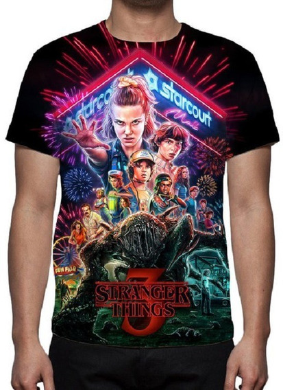 Camiseta Série Stranger Things 3ª Temporada - Estampa Total