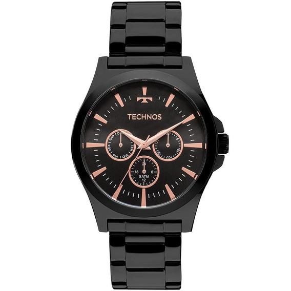 Relógio Technos Masculino Classic Steel Preto - 6p29ajl/4p