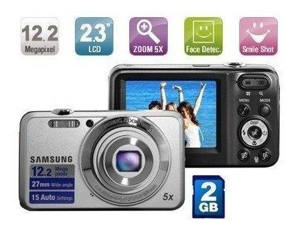 Câmera Digital Samsung 12.2mp Zoom 5xes80 Prata +cartão 2gb