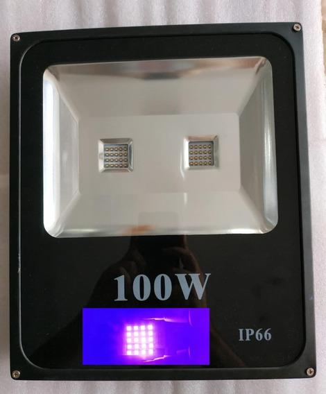 Refletor Led Uv Ultra Violeta 100w Luz Negra Balada Festas