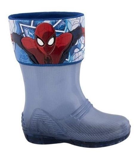 Botas 80234 13-21 Luz Lluvia Agua Plàstico Spiderman Hombre