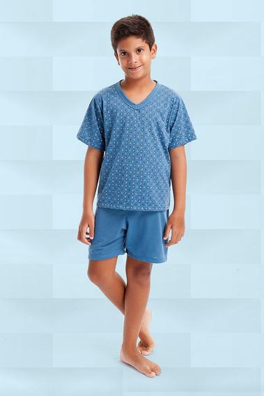 10 Pijamas Camisa Meia Manga Short Estampado E Liso Masculino