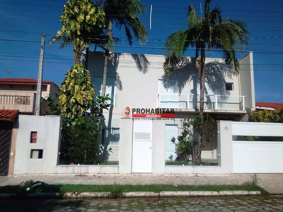 Sobrado Com 3 Dormitórios À Venda, 340 M² Por R$ 550.000 - Parque Balneário Oásis - Peruíbe/sp - So2914
